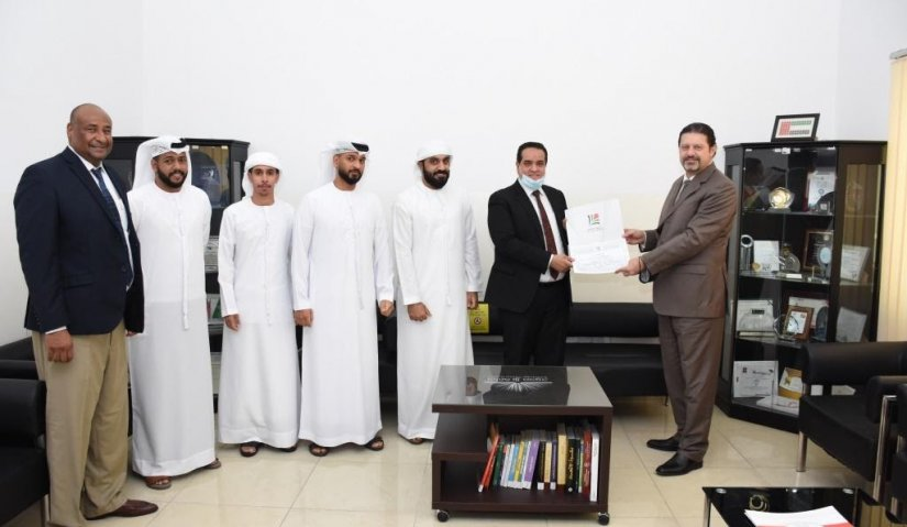 AFU President honors students who won 1st Place in Dubai Customs'