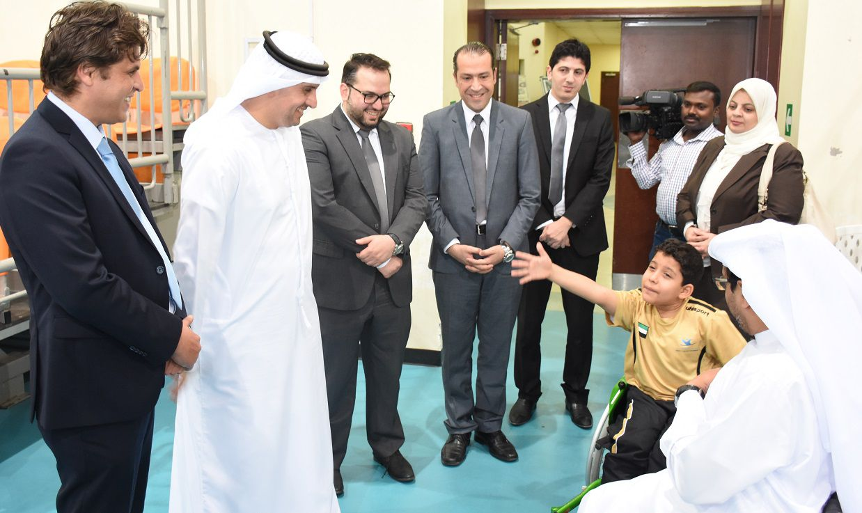dr.noor visit dubai club disabled