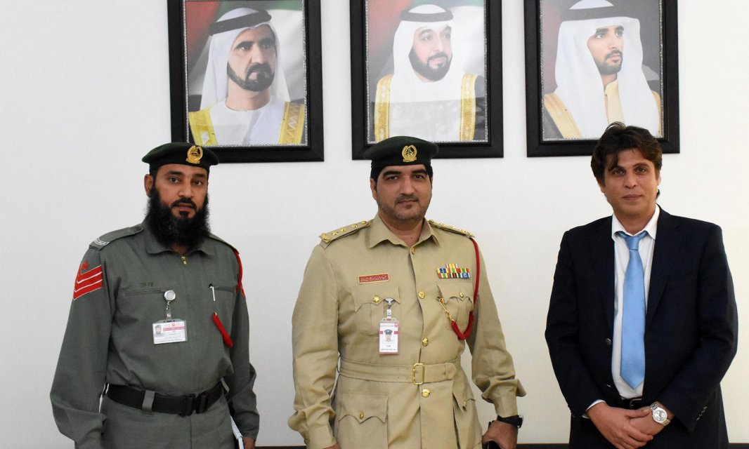 General Department of Dubai Police delegation visits ِAl Falah university