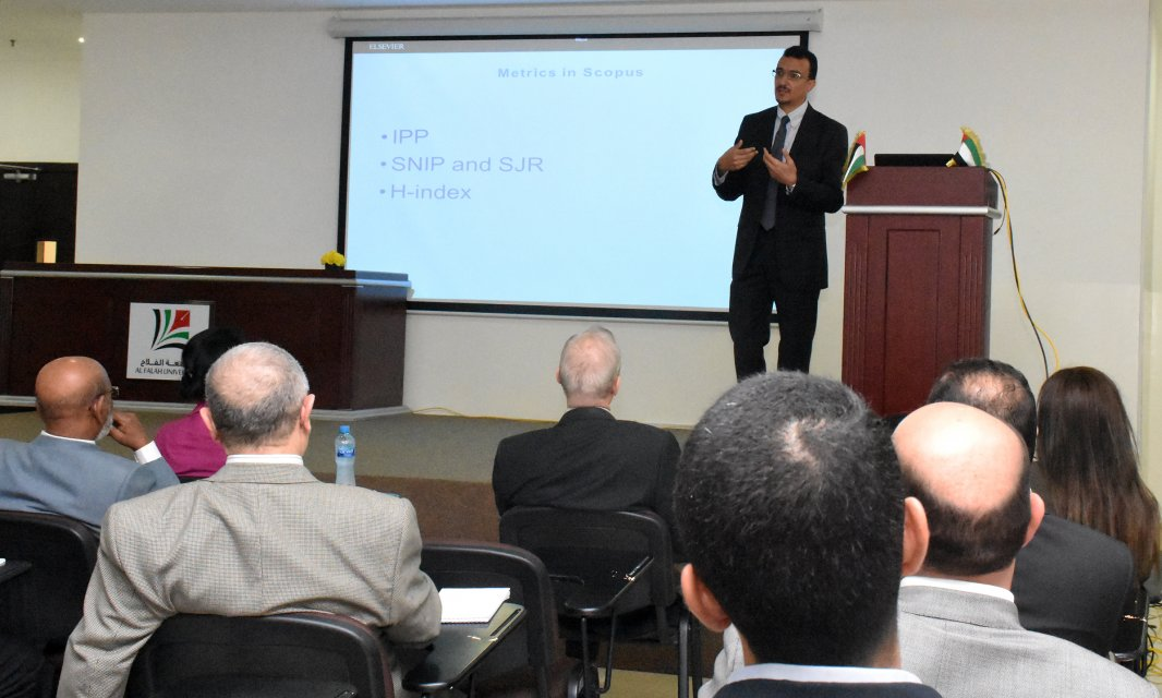 Al Falah University Organizes a Workshop in Collaboration with Elsevier Inc. on SCOPUS