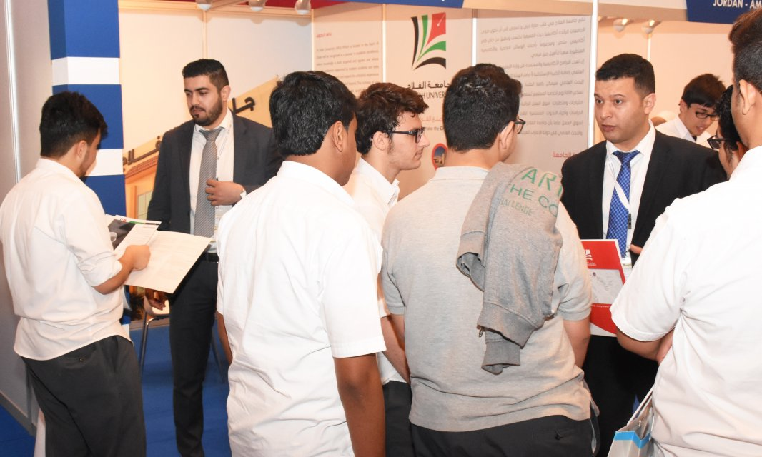 Al Falah University Participates in Ajman International Fair for Education and Training