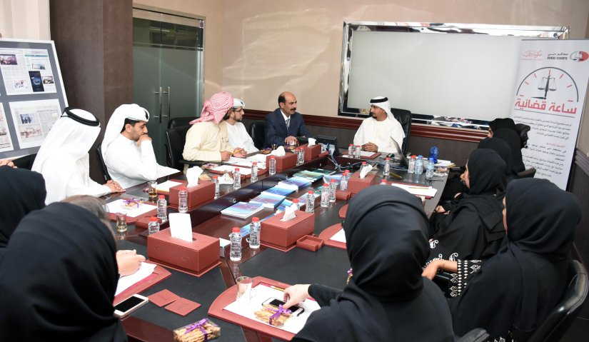 Student delegation from AFU visits Dubai Courts