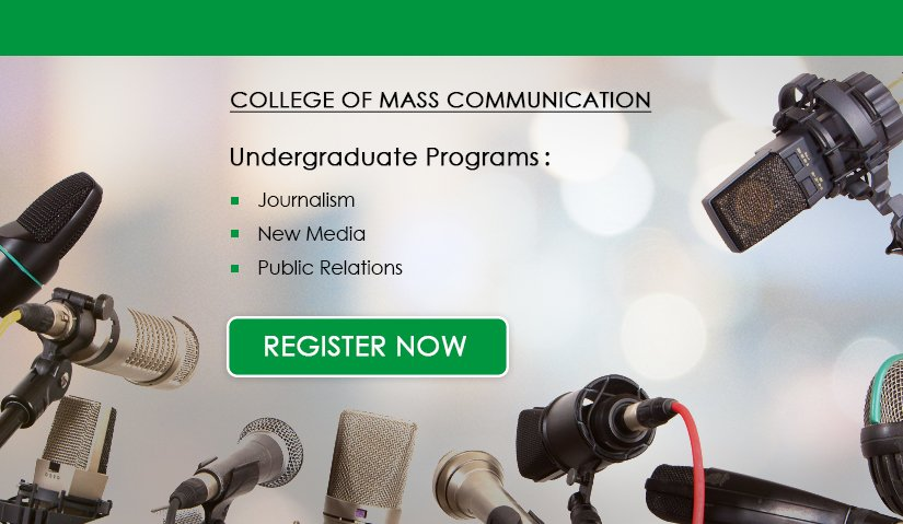 Register Now | College of Mass Communication