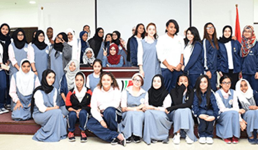 Al Falah University Met with Students of Dubai Carmel School