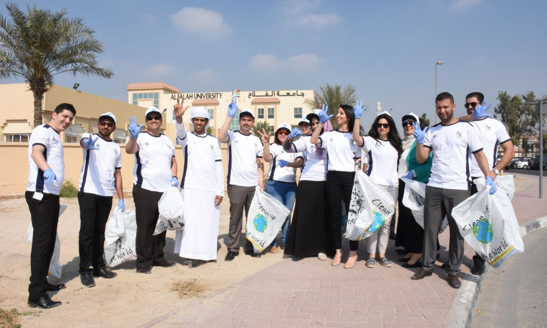 Student Affairs Unit of Al Falah University Participates in Clean Up the World 2016