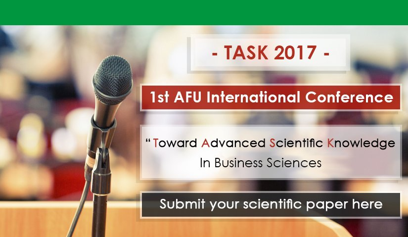1st AFU International Conference  Toward Advanced Scientific Knowledge (TASK-2017)