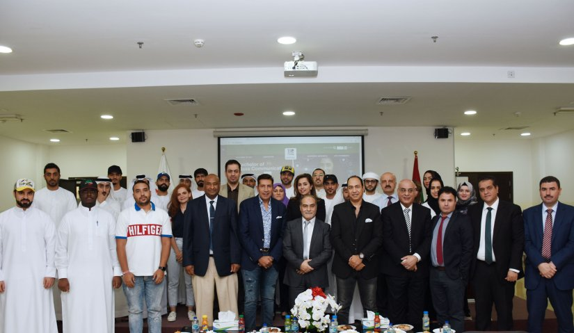 Al Falah University hosts artist Hani Ramzi in an open meeting with COMC students