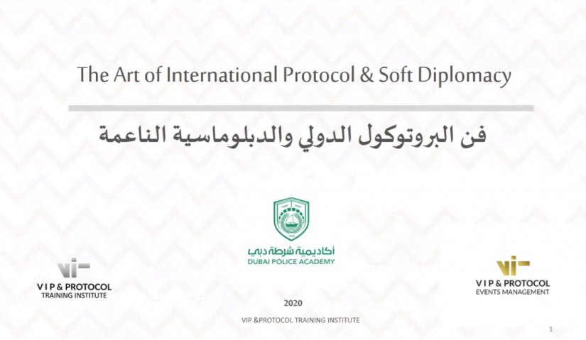The Art of International Protocol & Soft Diplomacy Workshop